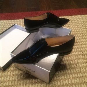 Nine West Black Patent Leather Loafers